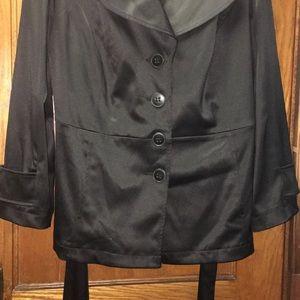 Lane Bryant Women's Black Jacket and Belt
